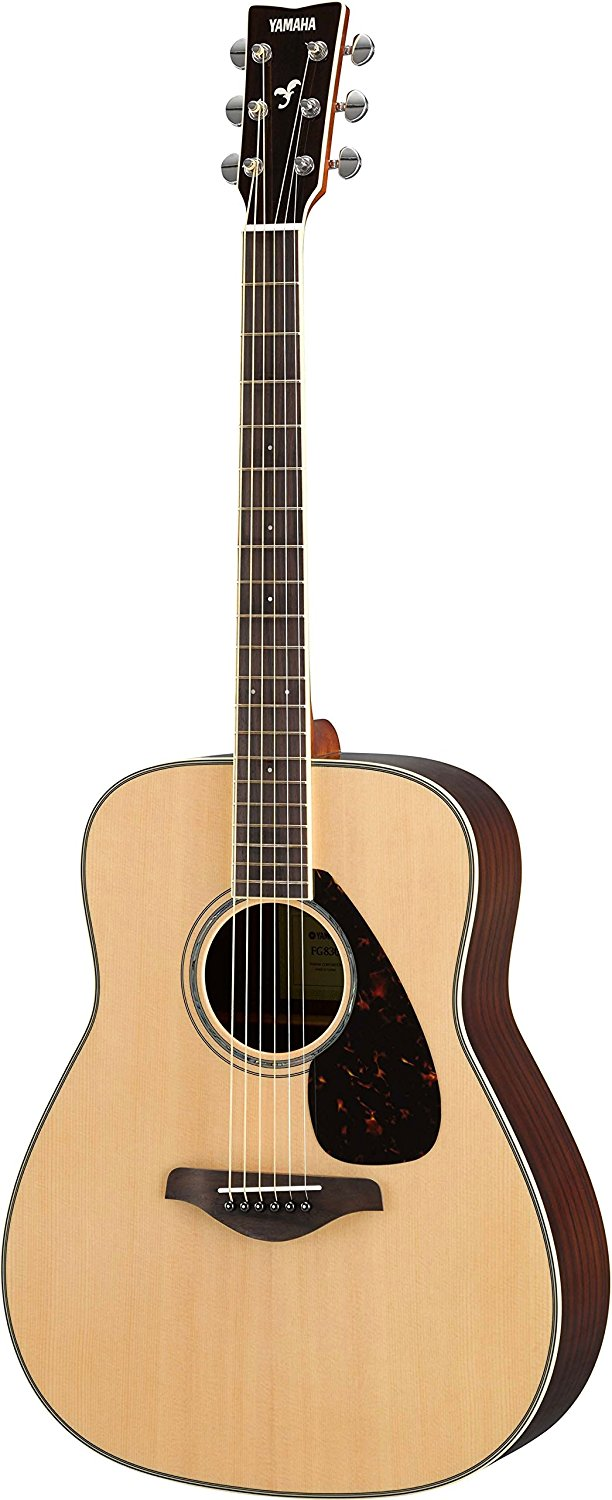 Yamaha fg830 solid top acoustic guitar product review for New yamaha acoustic guitars